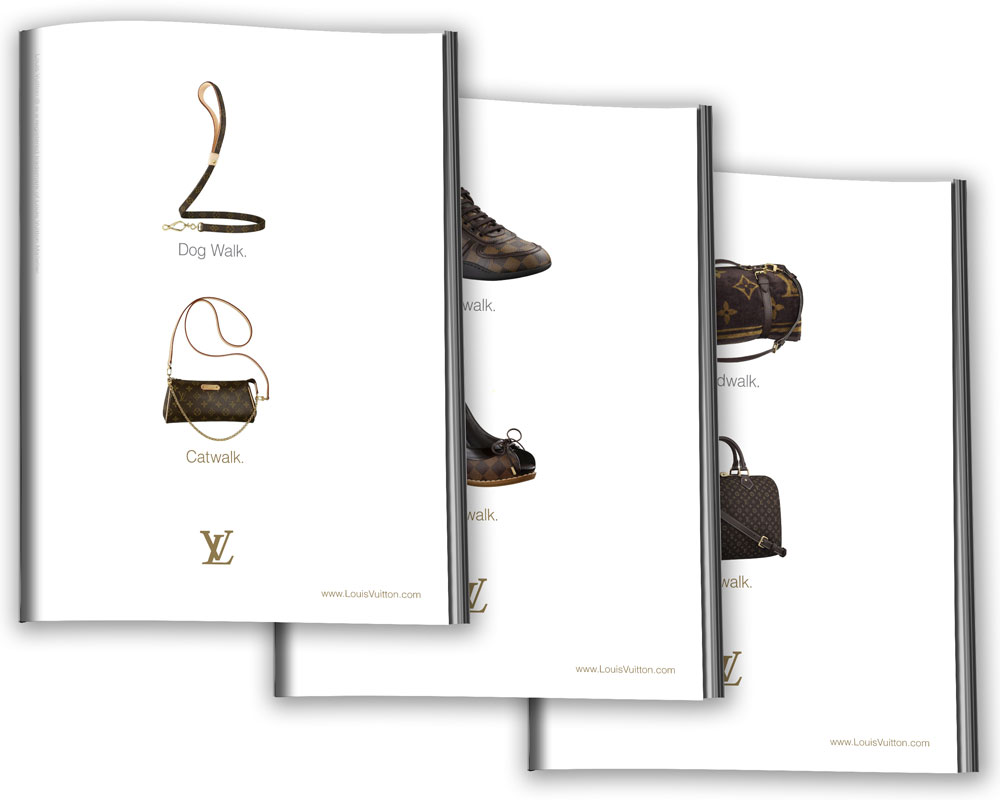 Louis Vuitton magazine layout