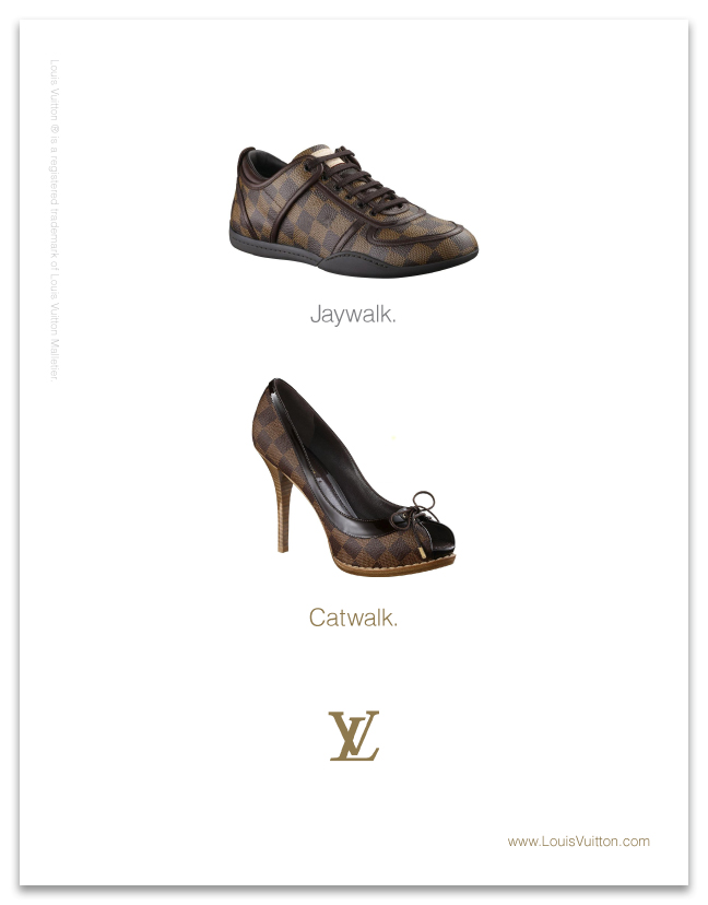Minimal Louis Vuitton advertisng